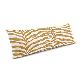 Gold Zebra Print Large Lumbar Pillow