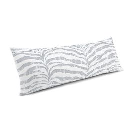 Light Gray Zebra Print Large Lumbar Pillow