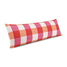 Pink & Orange Buffalo Check Large Lumbar Pillow