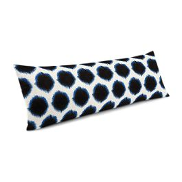 Black & Blue Dot Large Lumbar Pillow