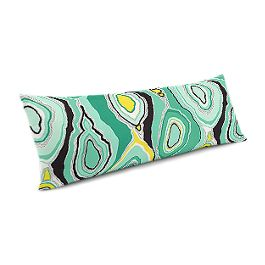 Lime Green & Yellow Abstract Large Lumbar Pillow