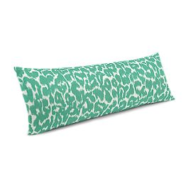 Bright Green Leopard Print Large Lumbar Pillow