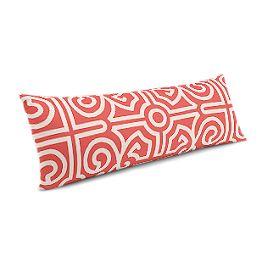 Modern Coral Trellis Large Lumbar Pillow