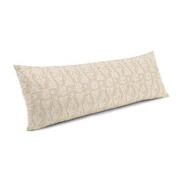 White & Natural Tribal Print Large Lumbar Pillow