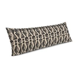 Tan & Black Tribal Print Large Lumbar Pillow