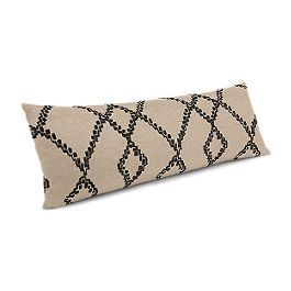 Black & Tan Tribal Trellis Large Lumbar Pillow