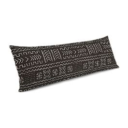 Black Woven Tribal Large Lumbar Pillow
