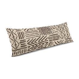 Taupe Tribal Large Lumbar Pillow