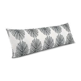 Black & White Spiky Oval Large Lumbar Pillow