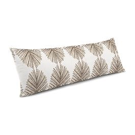 White & Tan Spiky Oval Large Lumbar Pillow