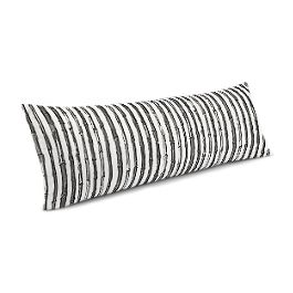 Black & White Bamboo Large Lumbar Pillow