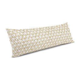 Beige Mudcloth Large Lumbar Pillow