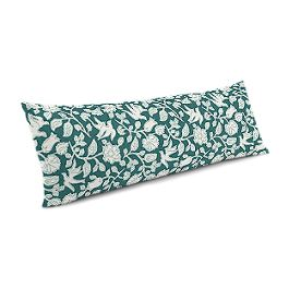 Blue Floral & Bird Large Lumbar Pillow