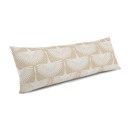 Natural & White Bird Large Lumbar Pillow