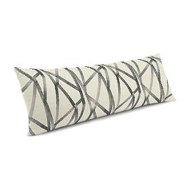 Black & White Abstract Stripes Large Lumbar Pillow