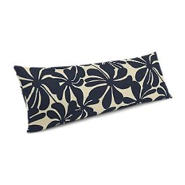 Navy Graphic Floral Large Lumbar Pillow