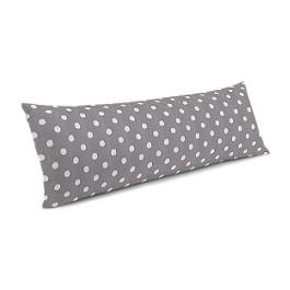 White & Gray Polka Dot Large Lumbar Pillow