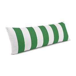 Green Awning Stripe Large Lumbar Pillow