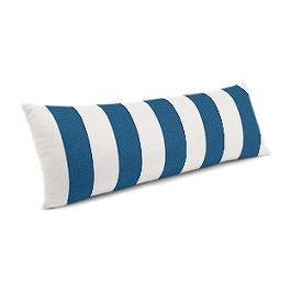 Royal Blue Awning Stripe Large Lumbar Pillow