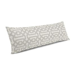 Light Gray Trellis Large Lumbar Pillow