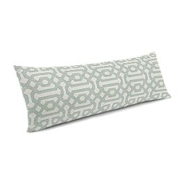 Pale Seafoam Trellis Large Lumbar Pillow