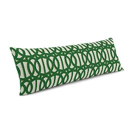 Emerald Green Trellis Large Lumbar Pillow