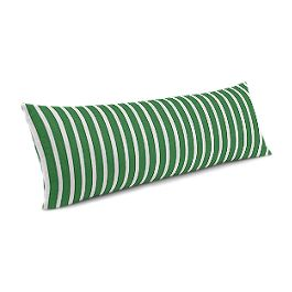 Emerald Green Thin Stripe Large Lumbar Pillow