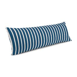 Bright Blue Thin Stripe Large Lumbar Pillow