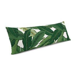 Green Banana Leaf Large Lumbar Pillow