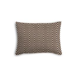 Knitted Brown Chevron Boudoir Pillow