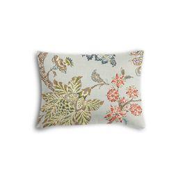 Delicate Aqua Blue Floral Boudoir Pillow