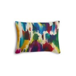 Multicolor Watercolor Boudoir Pillow
