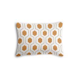 Beige & Orange Hexagon Boudoir Pillow