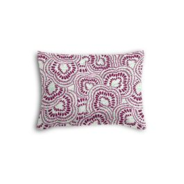 Seafoam & Purple Scallop Boudoir Pillow