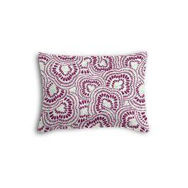 Seafoam & Purple Scallop Boudoir Pillow