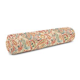 Multicolor Red Paisley Bolster Pillow