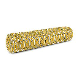 Modern Yellow Trellis Bolster Pillow