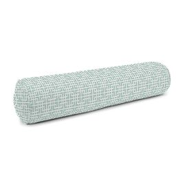 Aqua Square Lattice Bolster Pillow