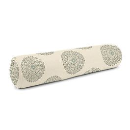 Aqua Medallion Block Print Bolster Pillow