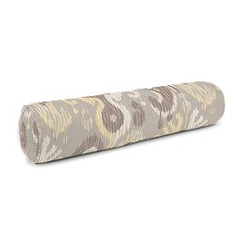 Pastel Yellow & Gray Ikat Bolster Pillow