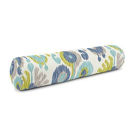 Aqua, Blue & Green Ikat Bolster Pillow