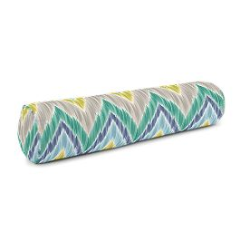 Gray, Green & Blue Chevron Bolster Pillow