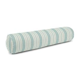 Handwoven Aqua Stripe Bolster Pillow