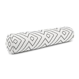 White & Gray Diamond Bolster Pillow