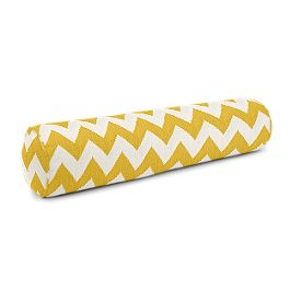 Bright Yellow Chevron Bolster Pillow