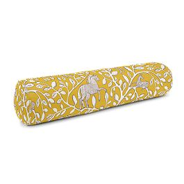 Yellow Animal Motif Bolster Pillow