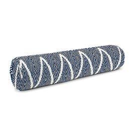 Tribal Navy Blue Chevron Bolster Pillow