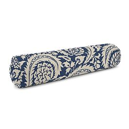 Natural & Blue Botanical  Bolster Pillow