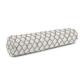 Gray Block Print Bolster Pillow