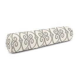 Gray Scroll Trellis Bolster Pillow